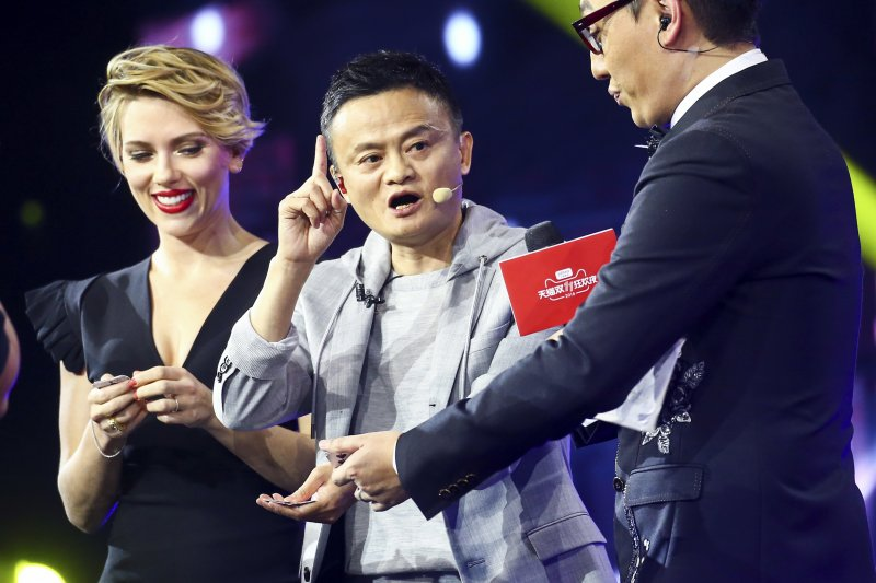11月11日,中國陷入「雙十一」購物狂歡,馬雲的阿里巴巴是最大受益者(AP)