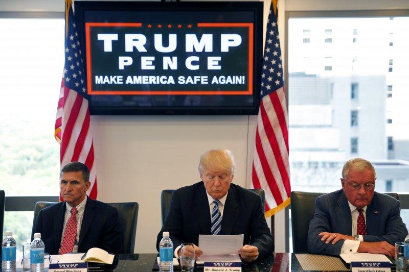 川普的交接團隊公布名單,仍多為政商領袖和說客,被批被棄選前反腐敗的政見。(美聯社)