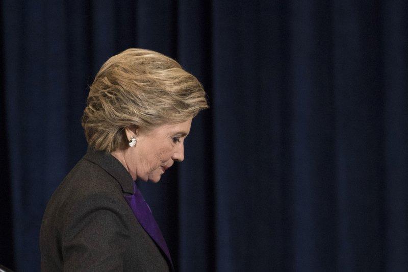 美國總統大選落幕,民主黨候選人希拉蕊.柯林頓(Hillary Clinton)9日發表敗選演說(AP)