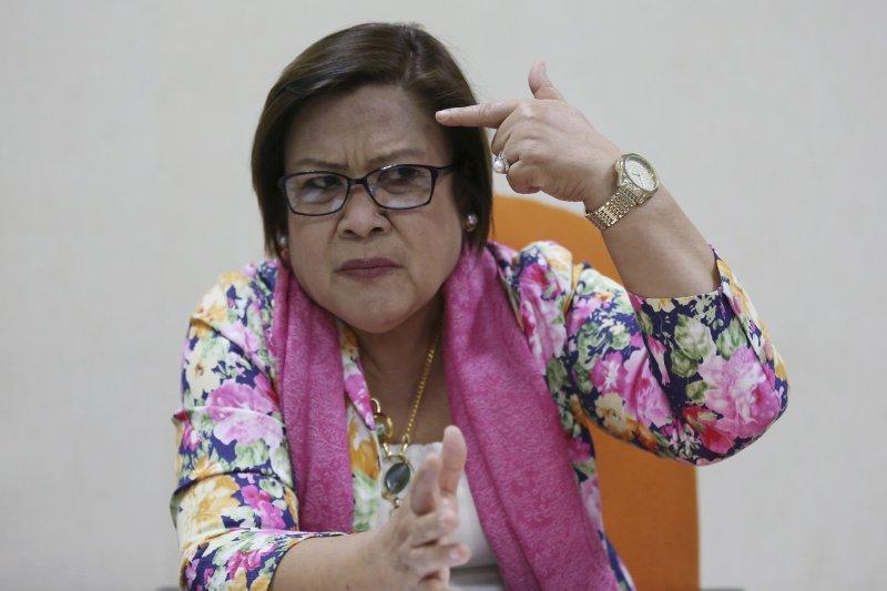 菲律賓女參議員德利馬(Leila de Lima)曾在國會針對杜特蒂的掃毒政策啟動調查,請卡祖歐出席作證(AP)