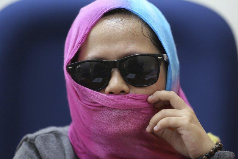 菲律賓女子卡祖歐(Harra Kazuo)挑戰杜特蒂總統(AP)