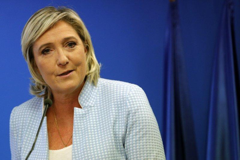 法國極右派政黨「民族陣線」黨主席瑪麗娜.勒潘。(美聯社)