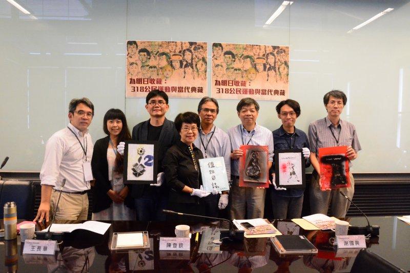 7200餘件318公民運動文物,已由中研院轉移至臺史博。(取自文化部)