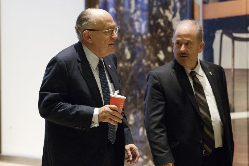 前紐約市長朱利安尼為川普競選不遺餘力。(美聯社)