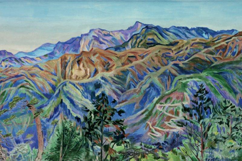 陳慧坤,《玉山第一峰》,1972。(圖片:網路美術館,想想論壇提供)