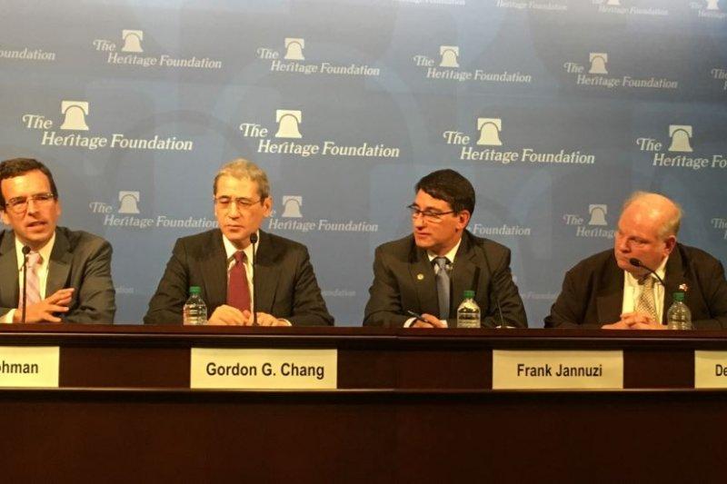 傳統基金會討論美國新政府主政下的美台關係(2016年11月17日,美國之音鐘辰芳拍攝)