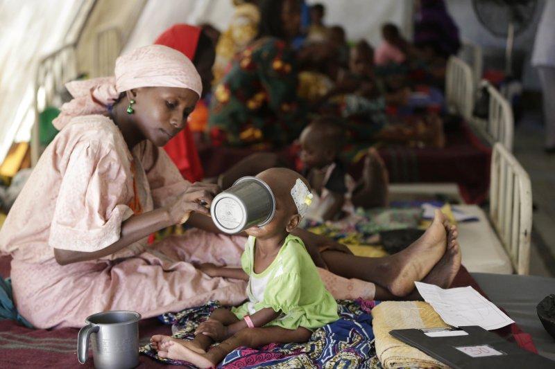 伊斯蘭極端武裝組織「博科哈藍」肆虐西非奈及利亞,當地許多兒童營養及度不良(AP)