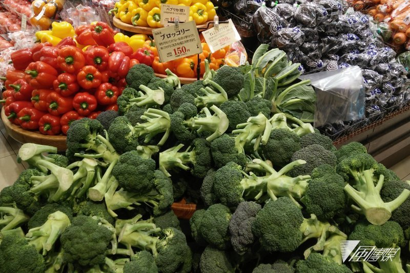 日本福島地區生產的蔬果。(圖/溫芳瑜攝)