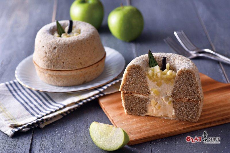 超可愛的茶蘋果蛋糕,到台中一定要買啊!(圖/ 台中好生活提供)