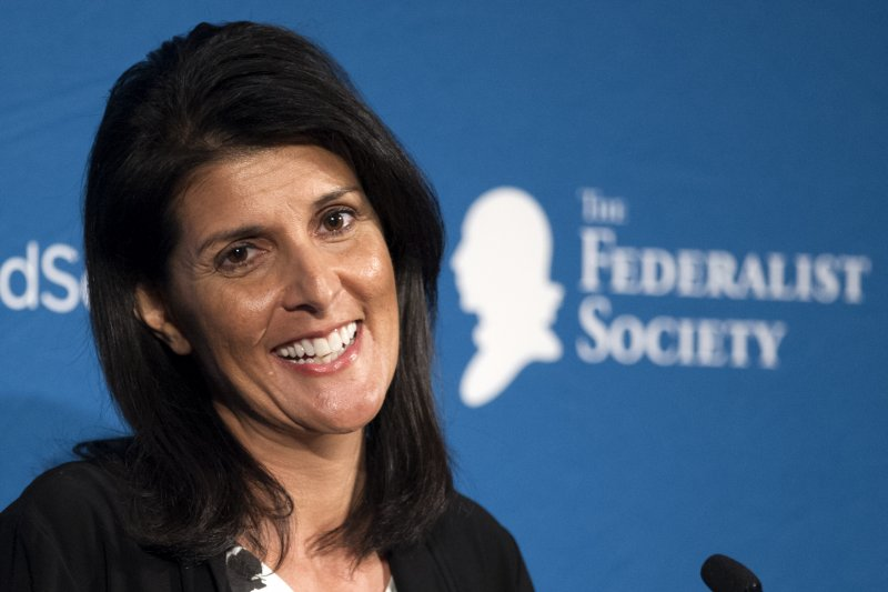 美國準總統川普選南卡羅來納州長海莉成為新任駐聯合國大使(美聯社)