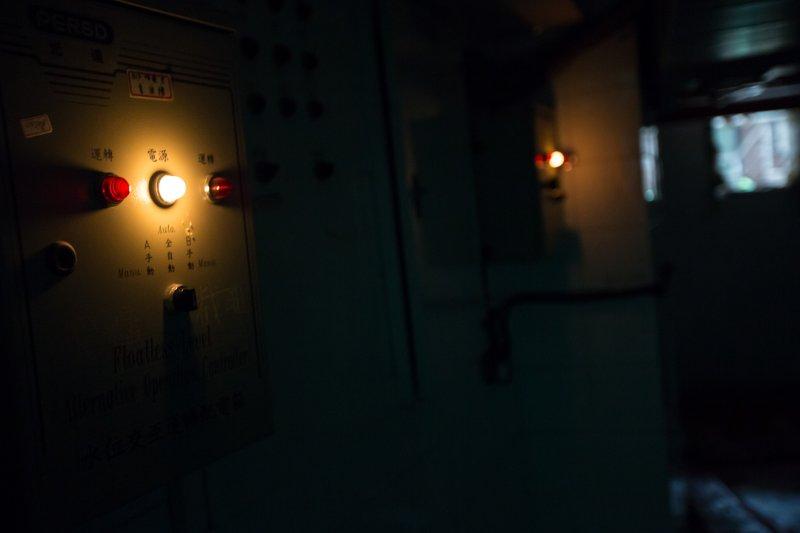 20161124-台北建成圓環24日即將進行拆除工程,正式走入歷史,圖為圓環地下一樓的機電室。(顏麟宇攝)