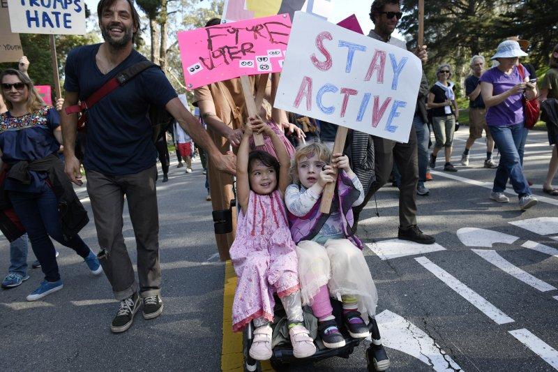 美國共和黨總統候選人川普「當選」至今,全美各地示威抗議不斷(AP)