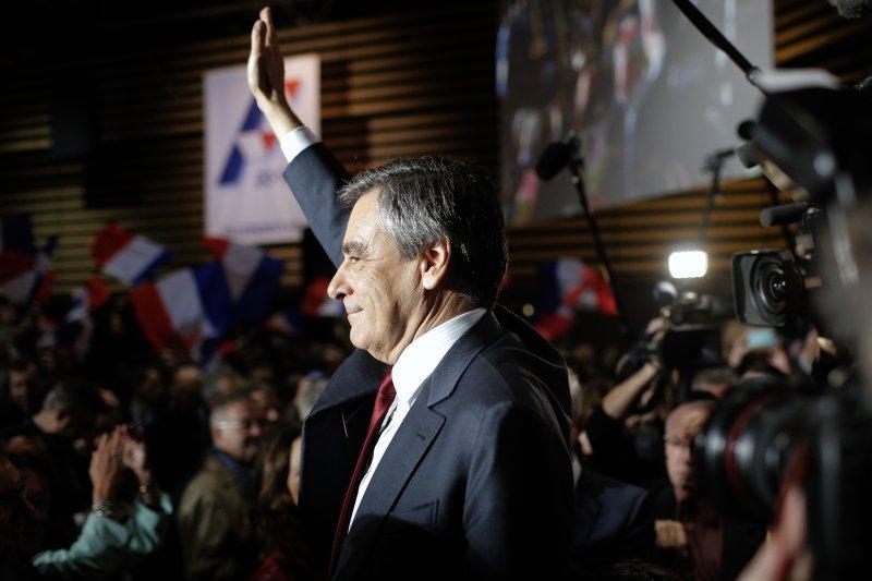 法國共和黨總統初選黑馬費雍。(美聯社)
