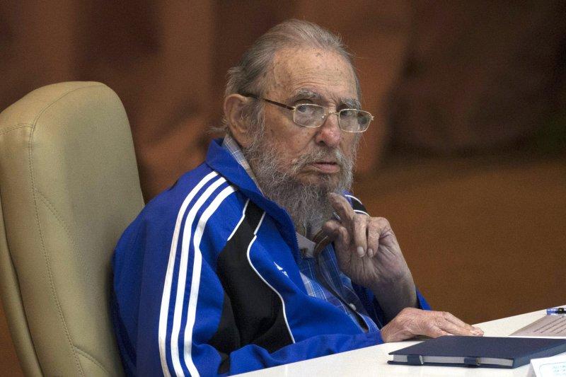 2016年4月,參加古巴共產黨第七次全國代表大會的菲德爾・卡斯楚(AP)