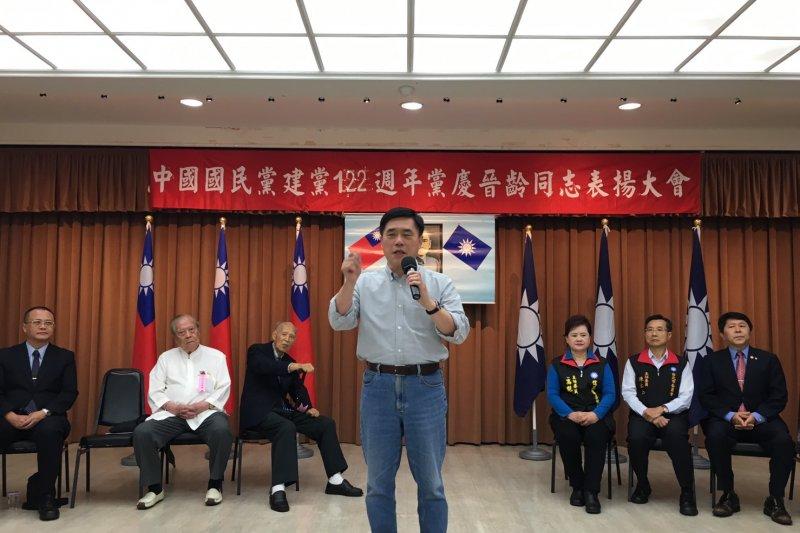 國民黨副主席郝龍斌呼籲,國民黨不僅不要交出股權,更要在現有黨址繼續辦公,並且不排除上街強烈抗爭。(郝龍斌辦公室提供)