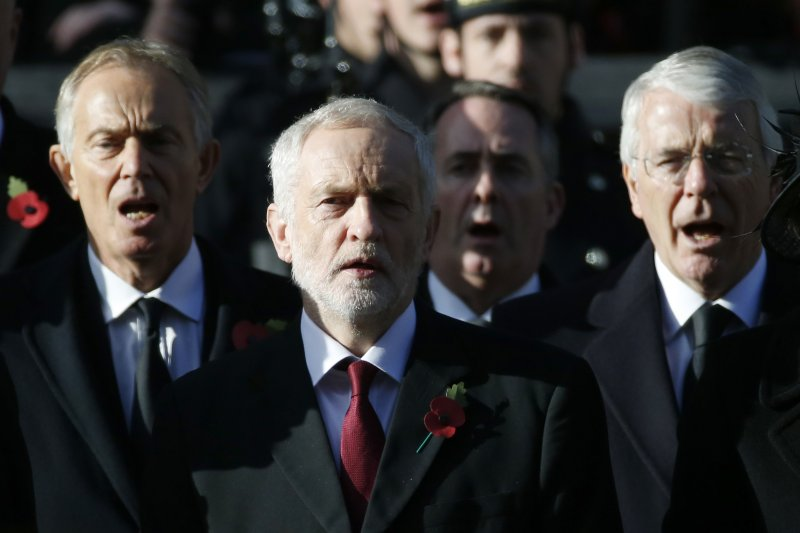 英國兩位前首相布萊爾(Tony Blair,左)與梅傑(John Major,右)都反對英國脫歐。(AP)
