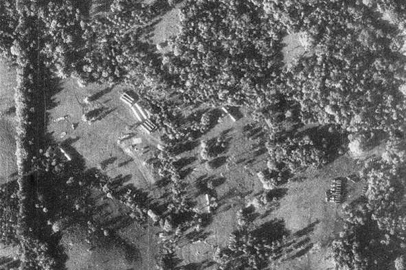 1962年古巴飛彈危機,美軍U2偵察機拍攝到的古巴飛彈陣地(維基百科.公有領域)