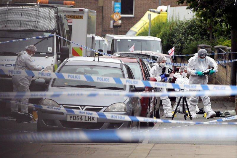 英國女國會議員柯克斯(Jo Cox)遭殺害的現場(AP)