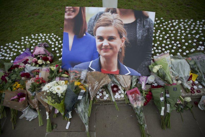 遭納粹狂徒殺害的英國女國會議員柯克斯(Jo Cox)(AP)