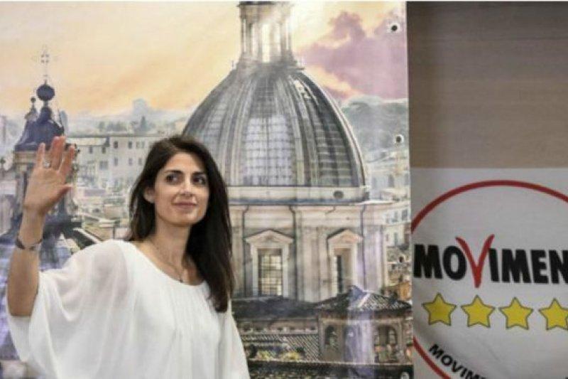 義大利地方選舉中「五星運動的」拉吉女士當選羅馬市長。(BBC中文網)