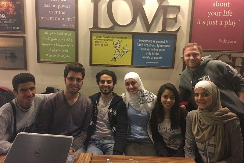 即使生活中面臨種種困難,這群敘利亞青年仍努力透過各種活動讓人們更了解世界。(圖/TEDxTaoyuan提供)