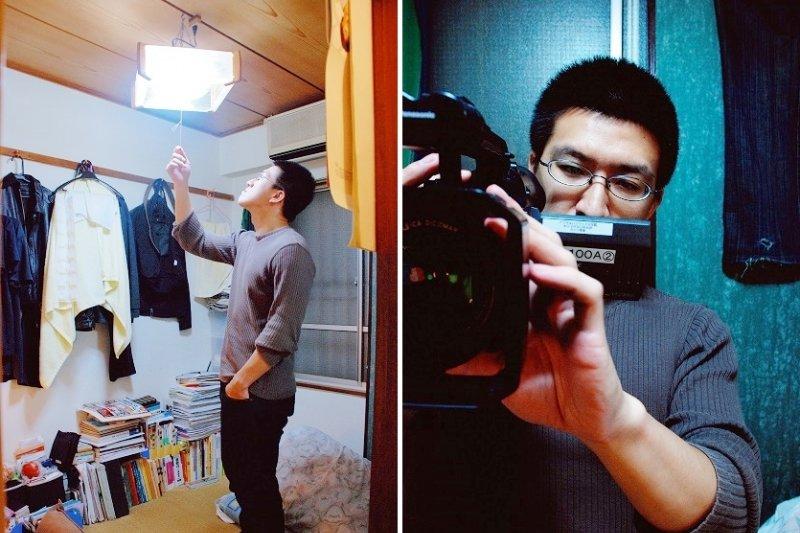 現年30歲的蔡金宏,離開台灣、擠進日本這月租18000的小房間,只為實現一個心願...(圖/時報出版提供)