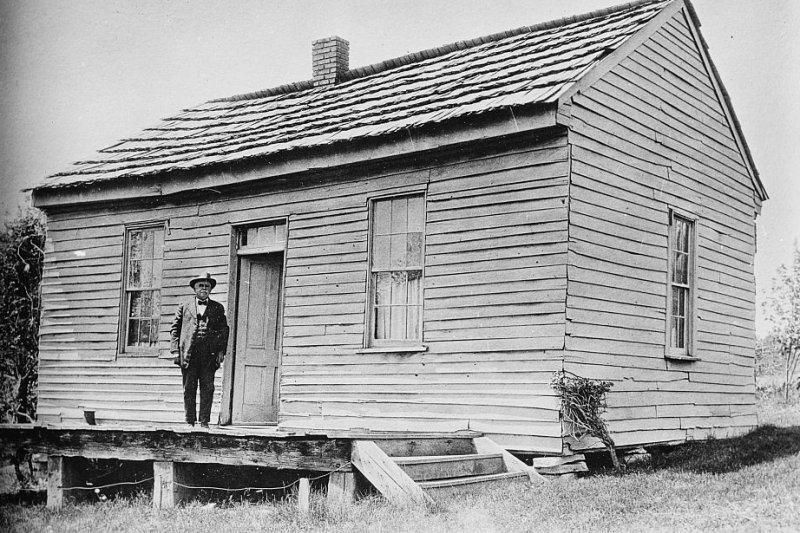 馬克吐溫出生的小屋(Wikipedia/Public Domain)