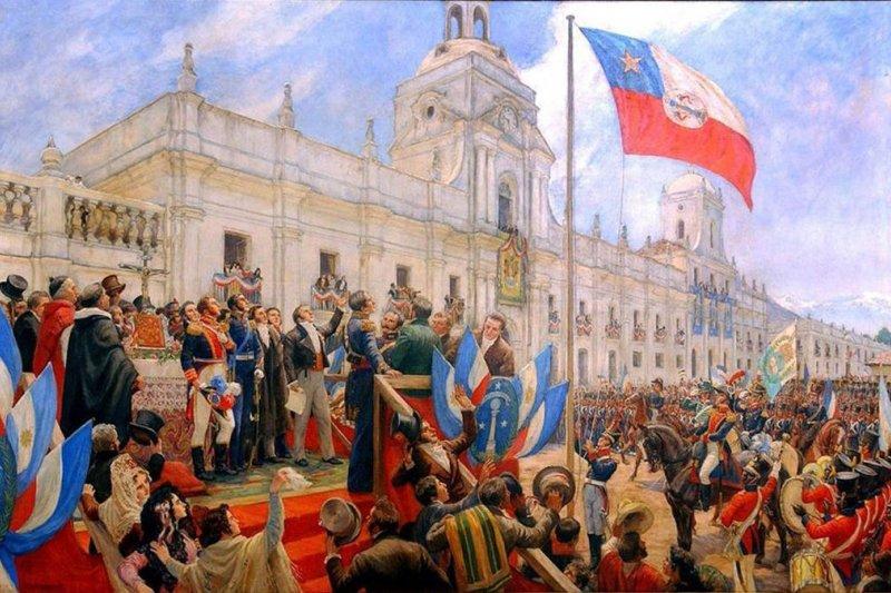 1818年,智利發表獨立宣言。(wikipedia/public domain)