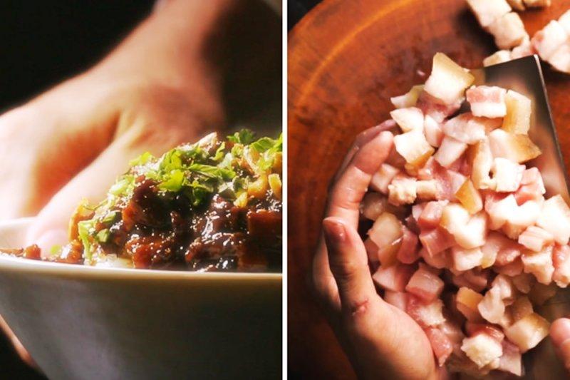 作家魚夫吐槽:製作單位宣傳用這種肉來做肉燥飯,可能是台北鬍鬚張的肉燥飯吃多了...(圖/Jeek