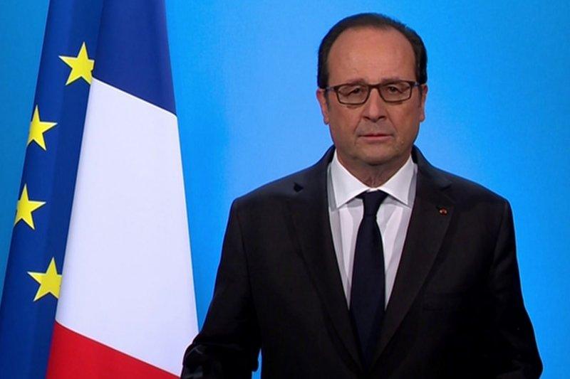 法國總統奧朗德宣布放棄參選連任。(美聯社)