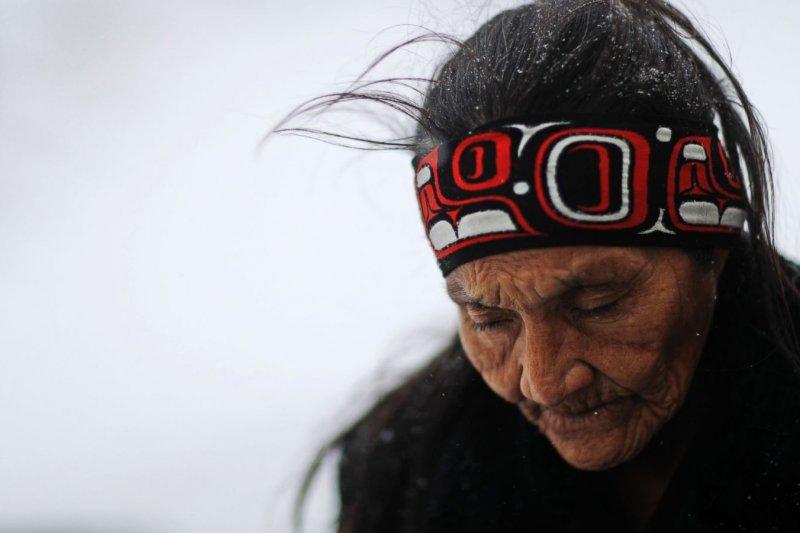 美國原住民在北達科塔州紮營抗議輸油管工程(AP)