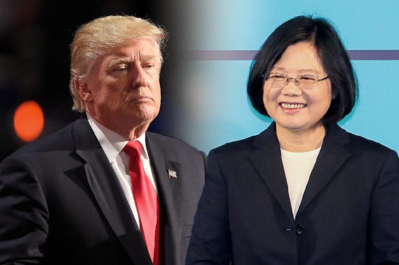 台灣總統蔡英文與美國總統川普。(合成照,風傳媒.AP)