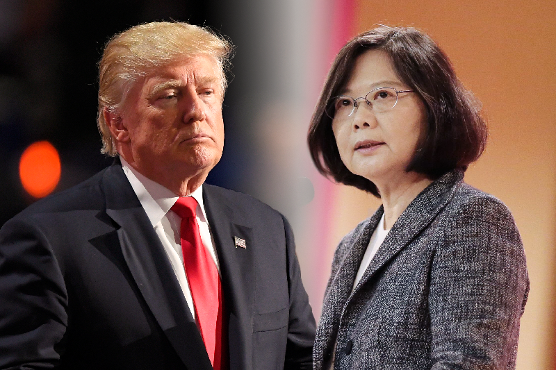美國總統當選人川普(AP)與台灣總統蔡英文(資料照,總統府提供)