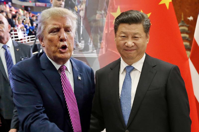 美國總統當選人川普(美聯社)與中國國家主席習近平(美聯社)