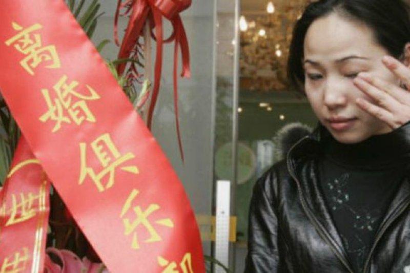 中國離婚率為千分之2.8。(BBC中文網)