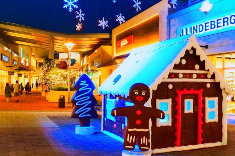 桃園幸福聖誕村主打雪景活動。(圖/GLORIA OUTLETS 華泰名品城@facebook)