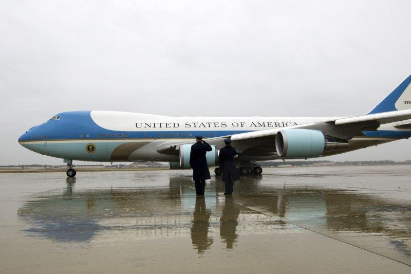美國總統的專機空軍一號。(美聯社)