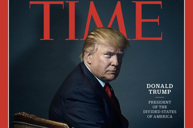 美國總統當選人川普被《時代》雜誌遴選為2016年年度風雲人物(AP)
