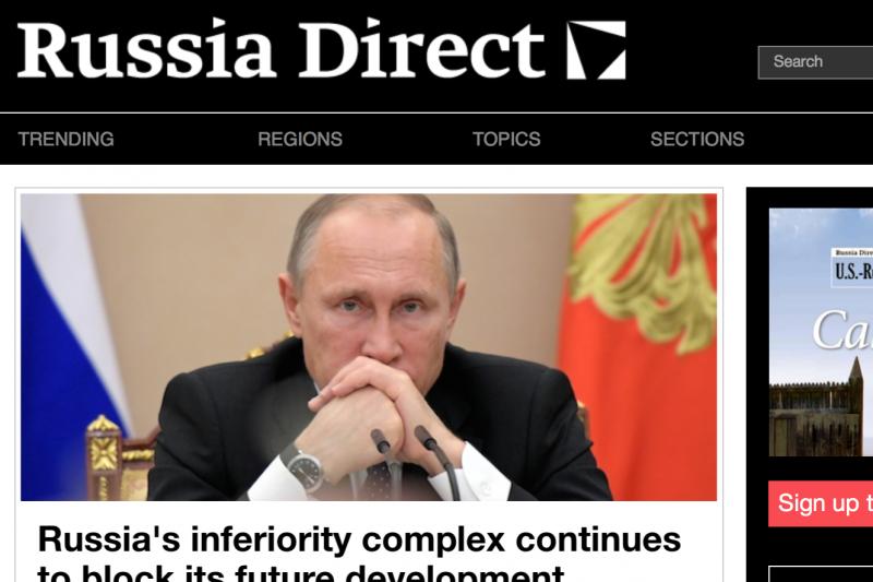 由俄國政府資助的新媒體《透視俄羅斯》(Russia Direct)。