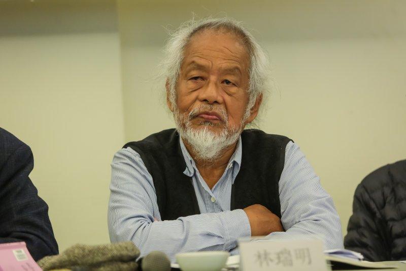 20161211-成大歷史系教授林瑞明(林梵)11日出席人間風景陳映真座談會。(顏麟宇攝)
