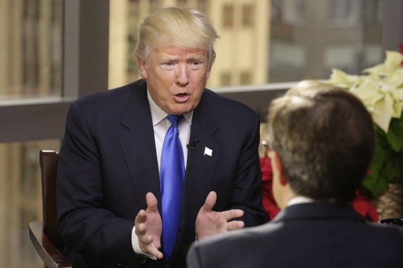 川普接受「周日福斯新聞」節目主持人華萊士專訪,不解美國為何受一中政策束縛,又引起震撼。(美聯社)