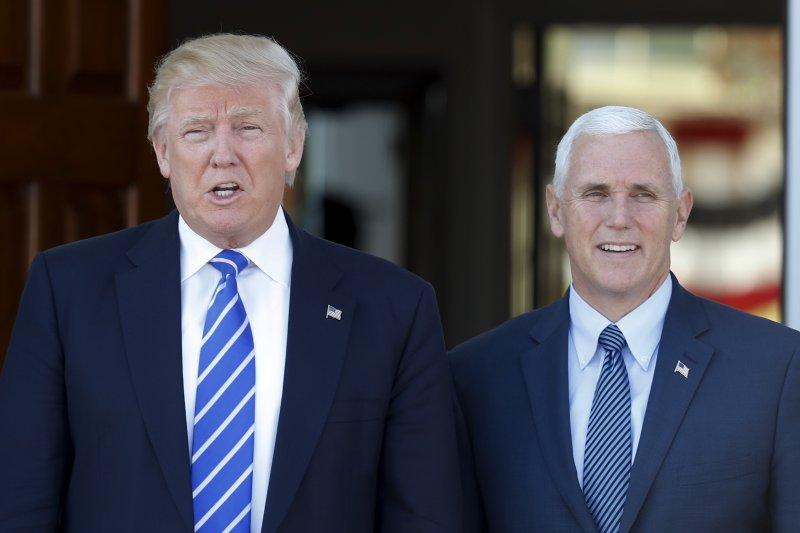 美國準正副總統川普(左)和彭斯(右)(美聯社)