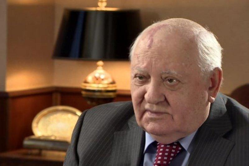 前蘇聯總統戈巴契夫在蘇聯解體25週年之際接受BBC採訪。(BBC中文網)