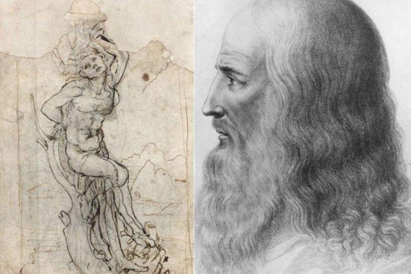 左面這幅畫被證明是達文西的素描作品。(BBC中文網)