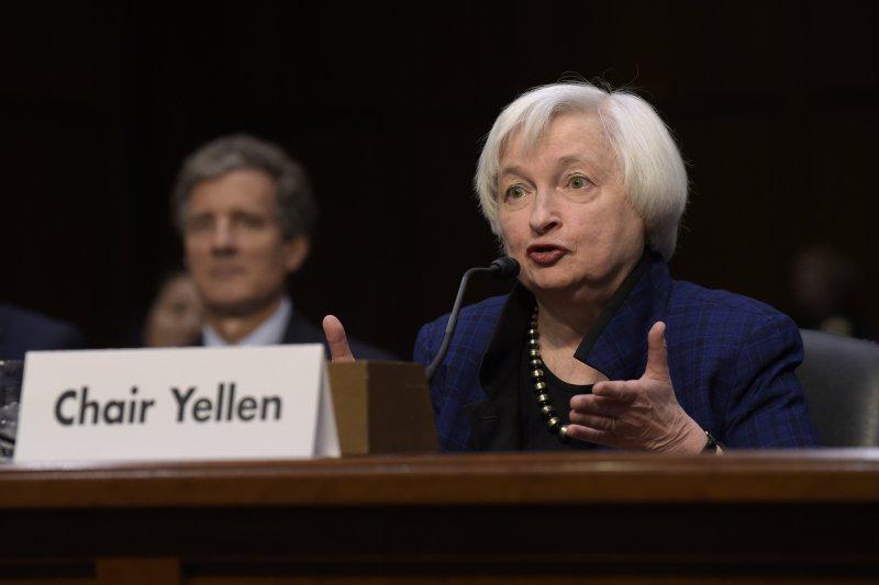 美國聯邦準備理事會(Fed)一如預期將基準利率調升1碼,這是聯準會主席葉倫(Janet Yellen)(AP)