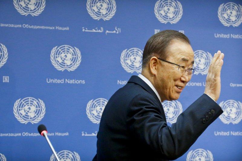 聯合國秘書長潘基文即將卸任,暗示可能參選明年的南韓總統大選。(美聯社)