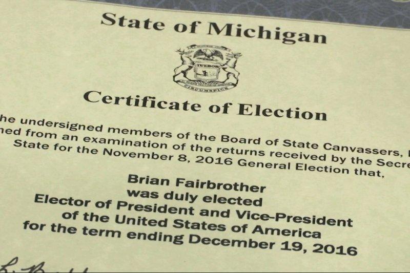 美國29個州和華府規定,代表該州的選舉人只能投給在該州勝出的總統候選人(AP)