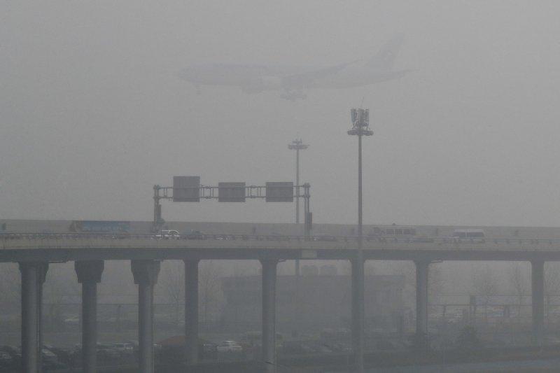 中國華北地區霧霾嚴重(AP)