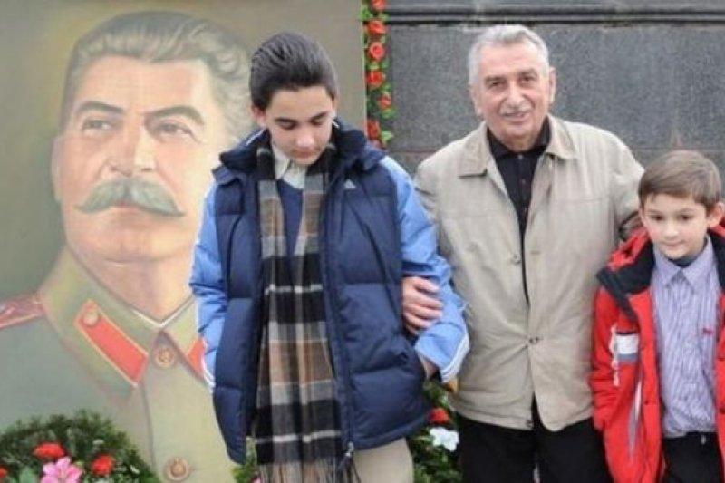 史達林的孫子葉甫蓋尼.朱加什維利在2009年的照片(BBC中文網)