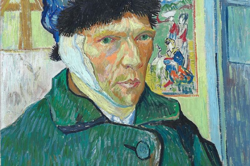 割耳後的梵谷自畫像(Wikipedia/Public Domain)